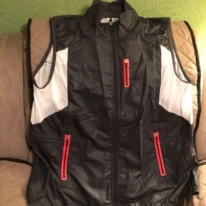 Black nylon Danskin jacket vest
